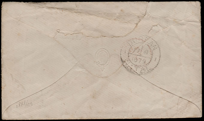 NATAL 1879 UNCANCELLED 6D LETTER FROM DURBAN