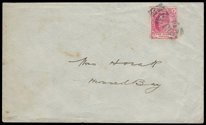 CAPE OF GOOD HOPE 1897 CORK CANCEL COVER TO MOSSEL BAY