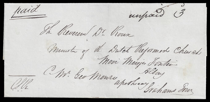 CAPE OF GOOD HOPE 1842 UNPAID LETTER