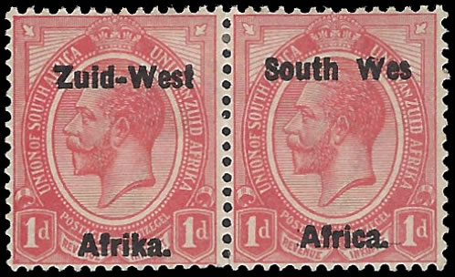 "SOUTH WEST AFRICA 1923 KGV 1D ""WES"" FOR ""WEST"" VF/M"