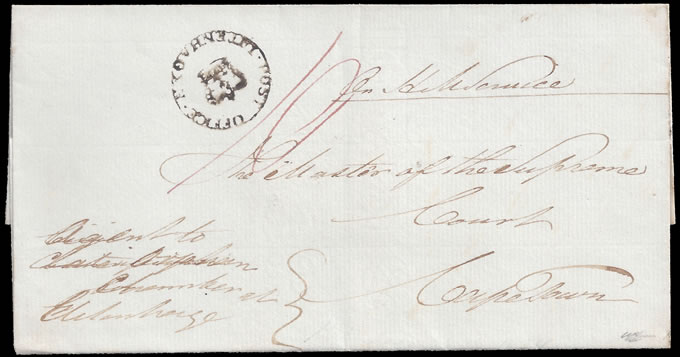 CAPE OF GOOD HOPE 1833 UITENHAGEN CROWNED CIRCLE, SUPERB