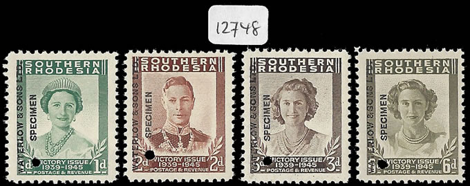Southern Rhodesia 1947 KGVI Victory Waterlow Specimens UM