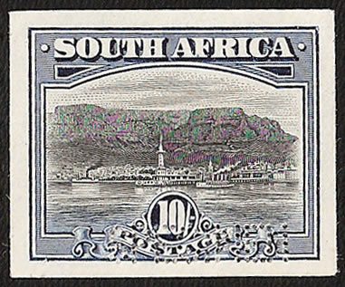 SOUTH AFRICA 1927 10/- BRADBURY WILKINSON IMPERF COLOUR TRIAL