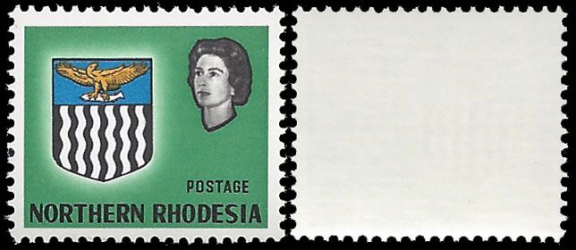 Northern Rhodesia 1963 4d Value Omitted VF/M