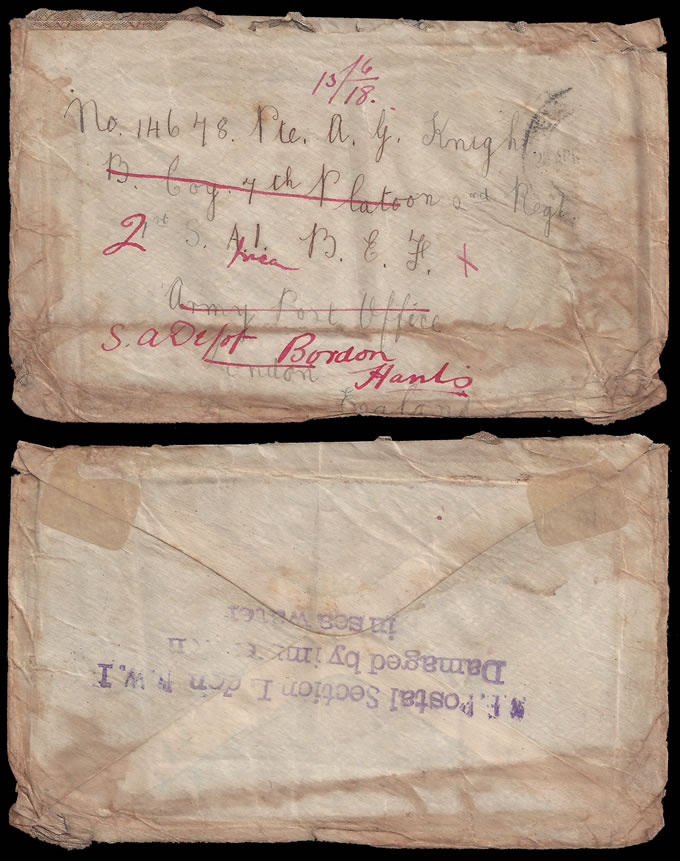 Wreck Mail 1918 Kenilworth Castle Disaster Cover