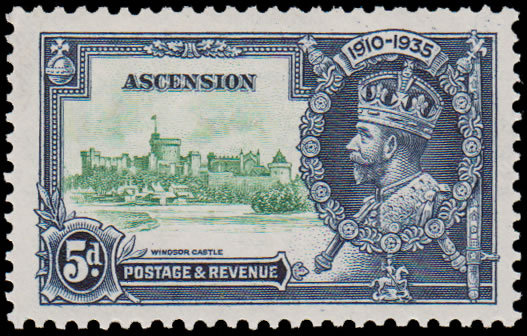 ASCENSION 1935 SILVER JUBILEE 5D KITE & HORIZONTAL LOG VF/UM