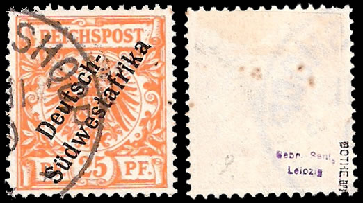 South West Africa 1898 25Pfg Used, Scarce
