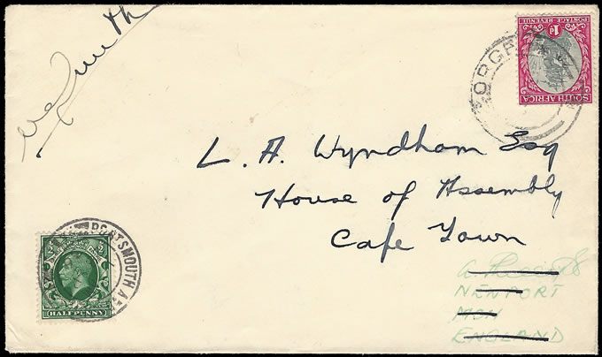 SOUTH AFRICA 1936 SCHLESINGER AIR RACE VICTOR SMITH SIGNED COVER