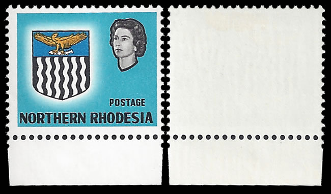 NORTHERN RHODESIA 1963 1D VALUE OMITTED VF/UM