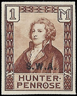 SOUTH WEST AFRICA 1929 HUNTER PENROSE LABEL OVERPRINTED