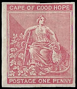 Cape of Good Hope 1882 1d Imperf Plate Proof on Crown CA