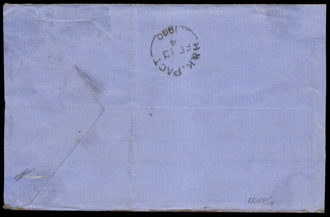 Transvaal 1880 Combination Franking Double Rated Letter