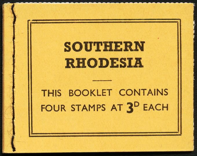 Southern Rhodesia Booklets 1964 1/- with Broken Oval