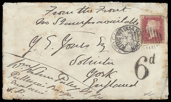 CAPE OF GOOD HOPE 1878 NINTH FRONTIER WAR OFFICERS LETTER