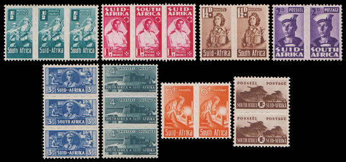 South Africa 1942 Bantams ½d - 1/- Full Set VF/M