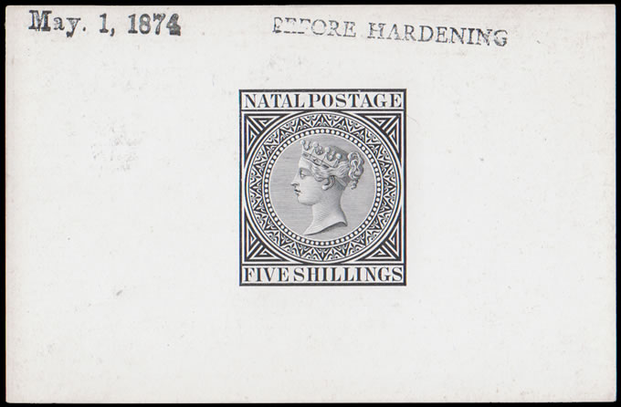Natal 1874 QV 5/- Die Proof Before Hardening, Rare