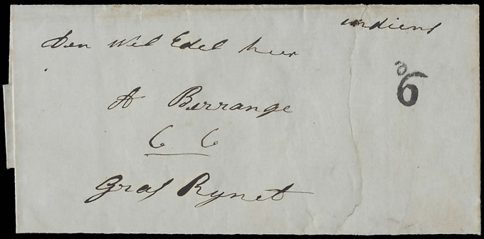 Cape of Good Hope 1855 Richmond Postmaster's Postage Due d6