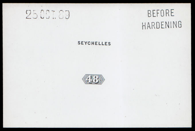 SEYCHELLES 1890 48C QV DIE PROOF BEFORE HARDENING