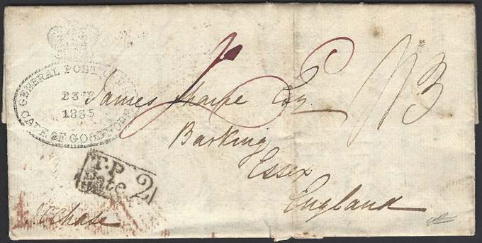 CAPE OF GOOD HOPE 1835 SIXTH FRONTIER WAR LETTER