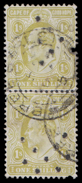 Cape of Good Hope Officials 1904 KEVII 1/- VF/U Pair, Rare