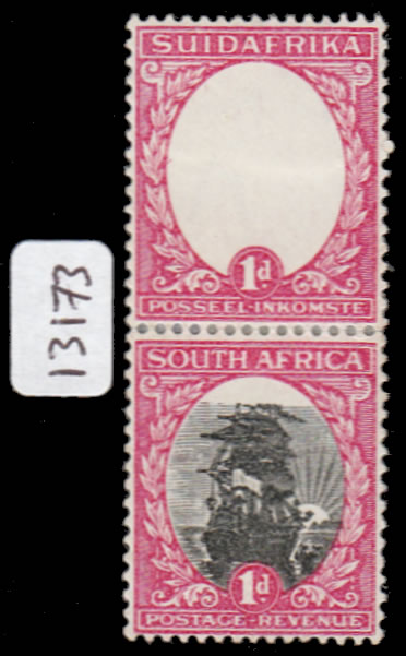 SOUTH AFRICA 1930 1D CENTRE OMITTED WITH CERT