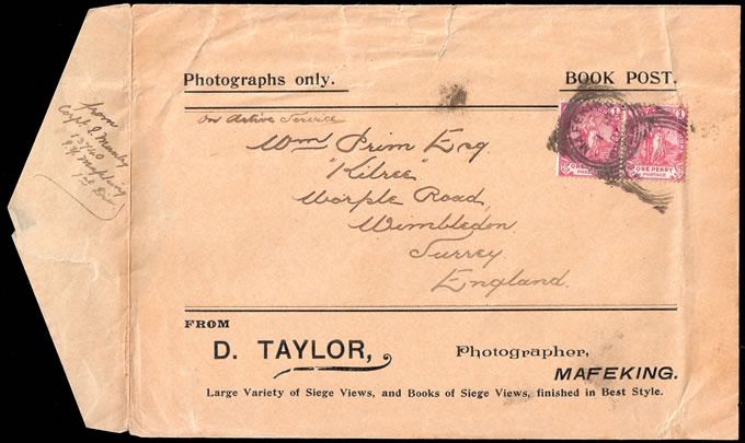 CAPE OF GOOD HOPE 1900 MAFEKING POST-SIEGE ADVERTISING ENVELOPE