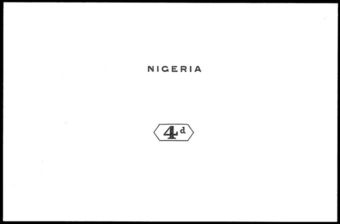 NIGERIA 1914 KGV 4D DIE PROOF
