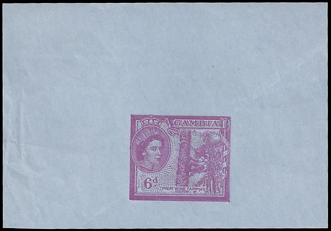 Gambia 1960 QEII 6d Aerogramme Duty Proof