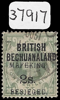 MAFEKING SIEGE 1900 SG11d, 2/- ON 1/-, CERT, 3 EXIST, RARITY!