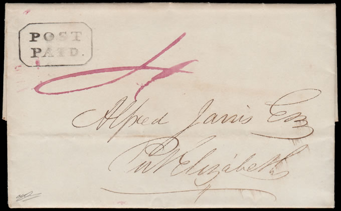 CAPE OF GOOD HOPE 1848 GRAHAMSTOWN POST PAID, RARITY!