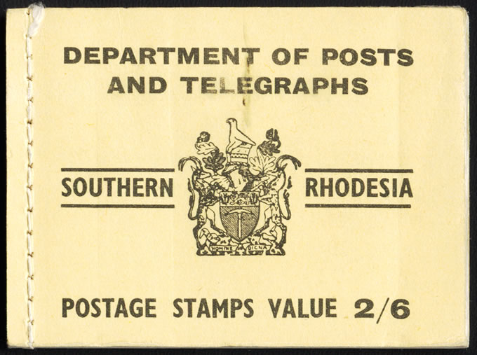 Southern Rhodesia Booklet 1954 2/6 Yellow VF Complete