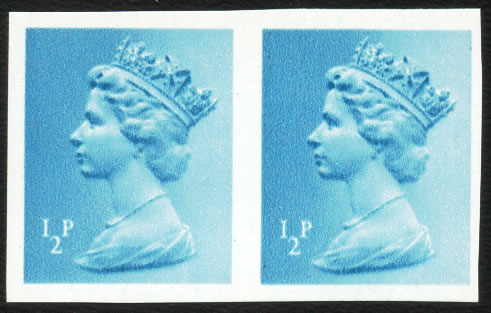GREAT BRITAIN 1971 ½P IMPERF PAIR