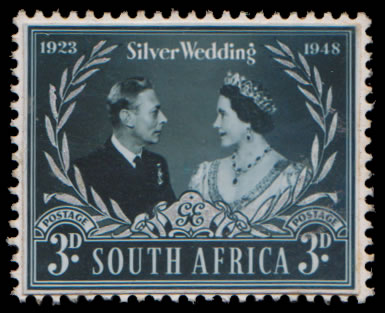 South Africa 1948 Silver Wedding Colour Photographic Proof