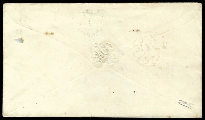 Natal 1855 Crown Over Natal Datestamp Letter, Green Strike
