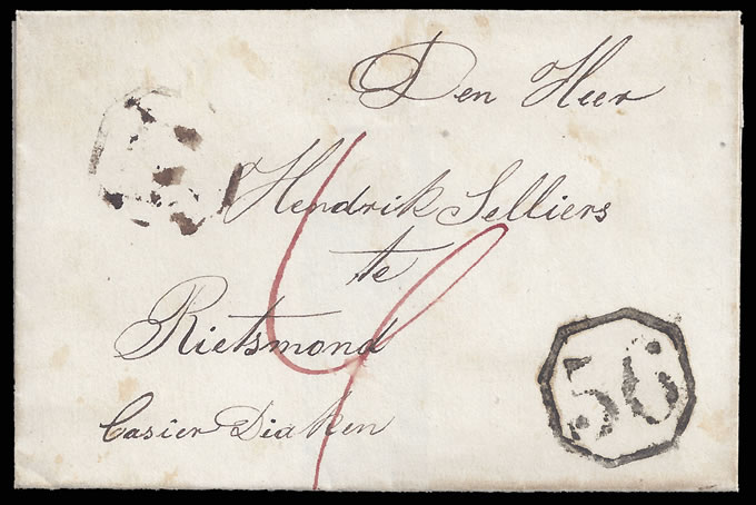 CAPE OF GOOD HOPE 1850 DESPATCH/ARRIVAL OCTAGONALS, RARE
