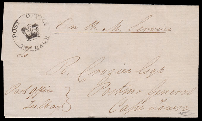 CAPE OF GOOD HOPE 1817 TULBAGH CROWN-IN-CIRCLE WRAPPER