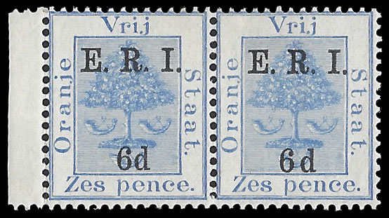 "ORANGE FREE STATE 1902 ERI 6D WIDE SPACE BETWEEN ""6"" & ""d"""
