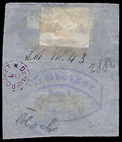 NATAL 1857 3D ROSE EMBOSSED, LARGE EXAMPLE ON PIECE