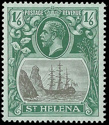 SAINT HELENA 1922 BADGE ISSUE 1/6 TORN FLAG VF/M