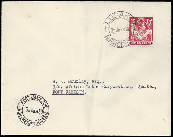 Northern Rhodesia 1939 Barotseland Airmails Date Error
