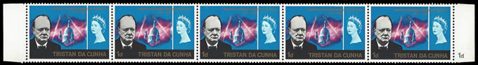 TRISTAN DA CUNHA 1966 CHURCHILL VALUE OMITTED, VALUE MISPLACED