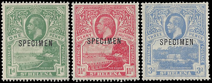 SAINT HELENA 1922 MONOCOLOURS FULL SET SPECIMENS