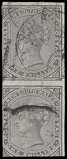 NEW SOUTH WALES 1876 QV 1D VARIETY IMPERFORATE PAIR, RARITY