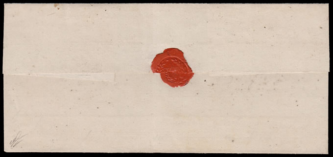 Cape of Good Hope 1810c Wrapper with Superb Oval Medallion