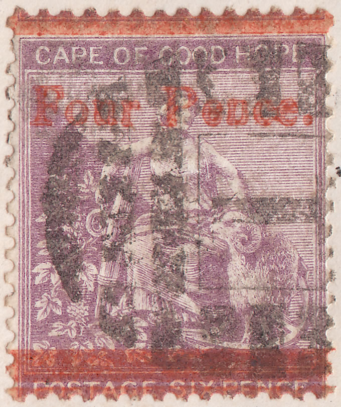 "Cape of Good Hope 1869 ""Peuce"" For ""Pence"" Error, Cover Front"