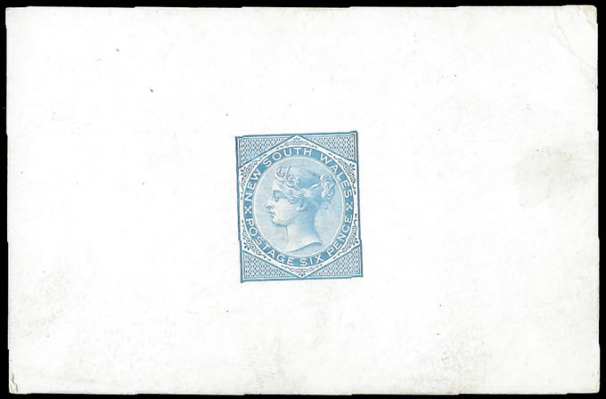 NEW SOUTH WALES 1871 QV 6D DE LA RUE SAMPLE COLOUR DIE PROOF
