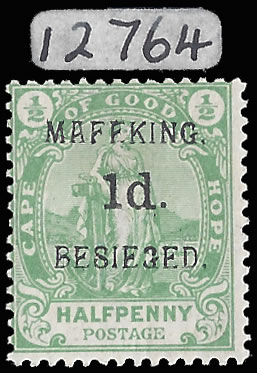 MAFEKING SIEGE 1900 SG 2 OVPT 4, 1D ON ½D GREEN VF/M WITH