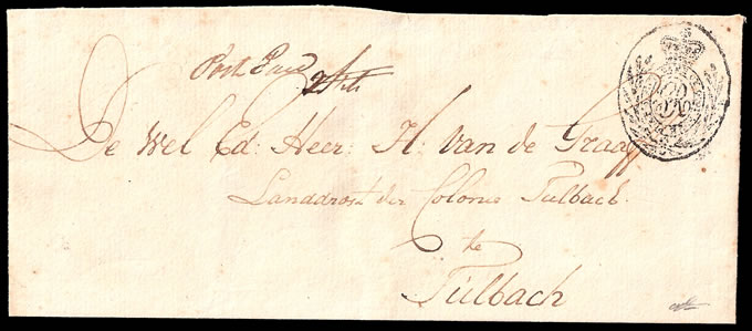 CAPE OF GOOD HOPE 1807 MEDALLION HANDSTAMP WRAPPER, VF