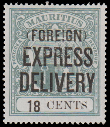 MAURITIUS EXPRESS STAMPS 1904 18C EXCLAMATION MARK VARIETY