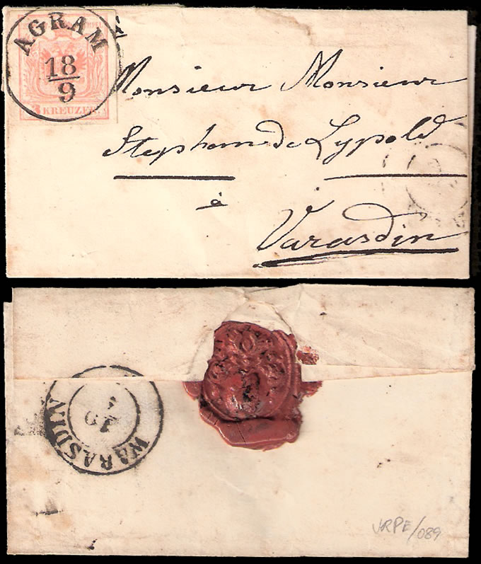 AUSTRIA 1851 SMALL FOLDED LETTER